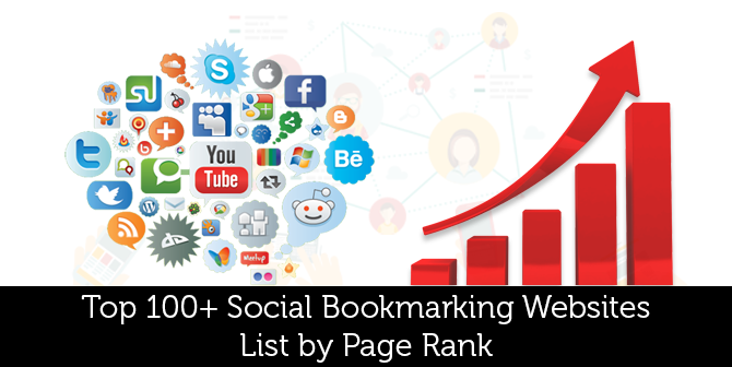 Top 100+ Social Bookmarking Websites List by Page Rank